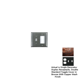 Anne at Home 3-Gang Bronze with Copper Wash Combination Pewter Wall Plate