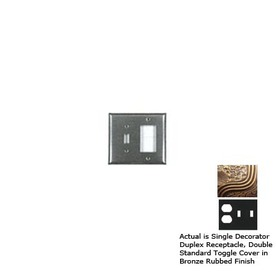 Anne at Home 3-Gang Bronze Rubbed Combination Pewter Wall Plate