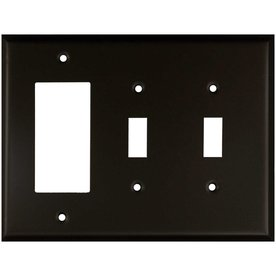 Anne at Home 3-Gang Bronze Triple Toggle/Decorator Wall Plate