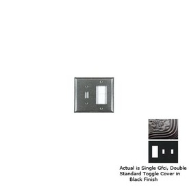 Anne at Home 3-Gang Black Combination Pewter Wall Plate
