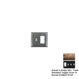 Anne at Home 4-Gang Bronze Rubbed Combination Pewter Wall Plate