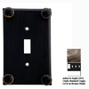 Anne at Home Button 4-Gang Bronze Combination Pewter Wall Plate