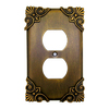 Anne at Home Corinthia 1-Gang Bronze Rubbed Decorator Duplex Receptacle Pewter Wall Plate