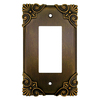 Anne at Home Corinthia 1-Gang Bronze Rubbed GFCI Pewter Wall Plate