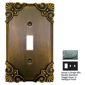 Anne at Home Corinthia 3-Gang Verdigris Combination Pewter Wall Plate