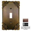 Anne at Home Corinthia 4-Gang Rust Combination Pewter Wall Plate