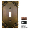 Anne at Home Corinthia 4-Gang Bronze with Copper Wash Combination Pewter Wall Plate