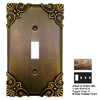 Anne at Home Corinthia 4-Gang Bronze Rubbed Combination Pewter Wall Plate