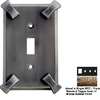 Anne at Home Hammerhein 4-Gang Bronze Rubbed Combination Pewter Wall Plate
