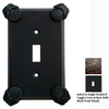 Anne at Home Oceanus 1-Gang Rust with Black Wash Standard Toggle Pewter Wall Plate