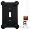 Anne at Home Oceanus 1-Gang Bronze with Copper Wash Decorator Duplex Receptacle Pewter Wall Plate