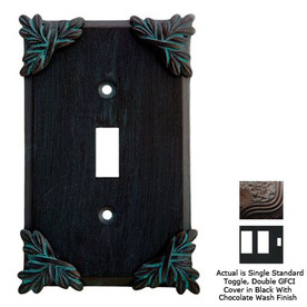 Anne at Home Sonnet 3-Gang Black with Chocolate Wash Combination Pewter Wall Plate