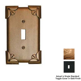 Anne at Home Pompeii 1-Gang Gold Standard Toggle Pewter Wall Plate