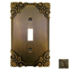 Anne at Home Corinthia 2-Gang Rubbed Bronze Combination Pewter Wall Plate