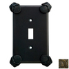 Anne at Home Oceanus 2-Gang Rubbed Bronze Combination Pewter Wall Plate
