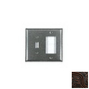 Anne at Home 2-Gang Iron Red Combination Pewter Wall Plate