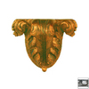 Hickory Manor House 7-1/2-in Painted Composite Open Leaf Shelf Corbel Accent