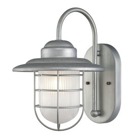 Shop Millennium Lighting R Series 11 5 In H Galvanized Outdoor Wall Light At