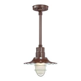 Millennium Lighting R Series 11.25-in H Bronze Outdoor Pendant Light