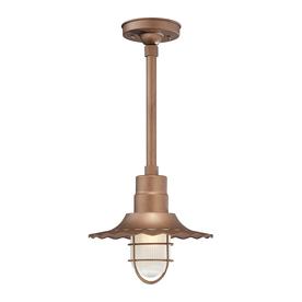 Millennium Lighting R Series 11.25-in H Copper Outdoor Pendant Light
