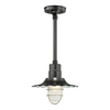 Millennium Lighting R Series 11-1/4-in Satin Black Outdoor Pendant Light