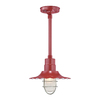 Millennium Lighting R Series 11-1/4-in Satin Red Outdoor Pendant Light