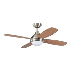Kendal Lighting Aviator 42-in Antique Brass Downrod Mount Indoor Ceiling Fan with Light Kit and Remote (4-Blade)