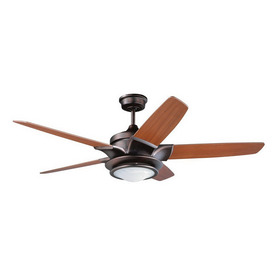 Kendal Lighting 52-in Stratos Oil-Brushed Bronze Ceiling Fan with Light Kit and Remote