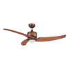 Kendal Lighting Treo 52-in Architectural Bronze Downrod Mount Indoor Ceiling Fan with Light Kit and Remote Control (3-Blade)