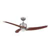 Kendal Lighting Treo 52-in Satin Nickel Downrod Mount Indoor Ceiling Fan with Light Kit and Remote Control (3-Blade)