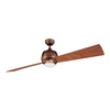 Kendal Lighting Ova 60-in Architectural Bronze Downrod Mount Indoor Ceiling Fan with Light Kit and Remote Control (2-Blade)