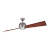 Kendal Lighting Ova 60-in Satin Nickel Downrod Mount Indoor Ceiling Fan with Light Kit and Remote Control (2-Blade)