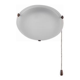 Whitfield Lighting 2-Light Oil-Rubbed Bronze Ceiling Fan Light Kit with Acid Wash Glass ENERGY STAR