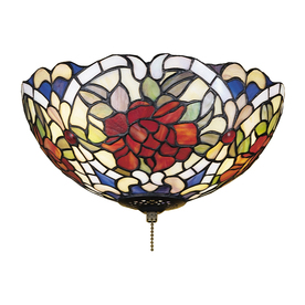 Meyda Tiffany Renaissance Rose 3-Light Mahogany Bronze Incandescent Ceiling Fan Light Kit