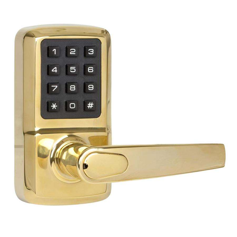 shop the delaney company digital lock brass electronic entry door deadbolt at. Black Bedroom Furniture Sets. Home Design Ideas