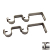 Rod Desyne 2-Pack Nickel Wall Brackets