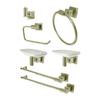 Elements of Design 7-Piece Claremont Satin Nickel Decorative Bathroom Hardware Set