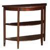 Powell Shelburne Rich Cherry Half-Round Console and Sofa Table