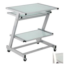 Shop eurostyle z aluminum computer desk at - Bed casters lowes ...