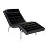 Eurostyle Valencia Black/Chrome Chaise