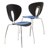 Best Selling Home Decor Set of 2 Anderson Stainless Steel Dining Chairs