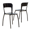 Best Selling Home Decor Set of 2 Black Dining Chairs