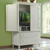 Homelegance Pottery White Sand-Through Armoire