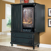 Homelegance Pottery Black Sand-Through Armoire