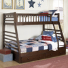 Homelegance Dreamland Cherry Twin Over Full Bunk Bed
