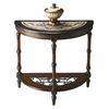 Butler Specialty Metalworks Mahogany Half-Round Console and Sofa Table