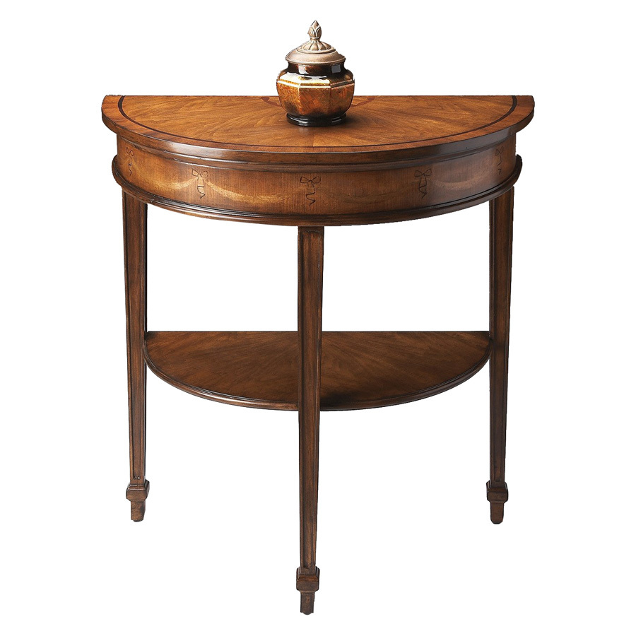 Shop butler specialty heritage cherry half round console for Sofa table cherry