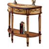 Butler Specialty Artists' Originals Light Hand-Painted Half-Round Console and Sofa Table