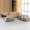 BH Design Black 2-Piece Sectional Sofa
