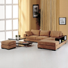 BH Design 2-Piece Sahari Brown Sectional Sofa